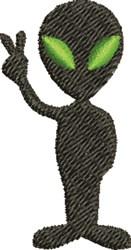 Peace Alien embroidery design