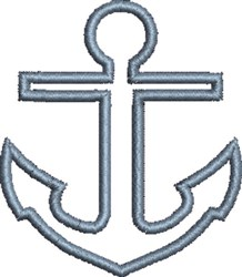 Anchor Outline embroidery design