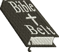 Bible Belt embroidery design