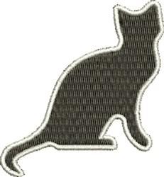 Cat Silhouette embroidery design