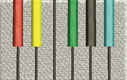 Colored Piano Keys embroidery design