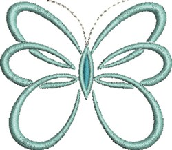 Butterfly Shape embroidery design