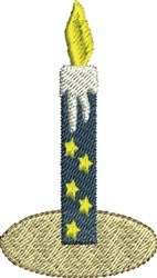 Star Candle embroidery design