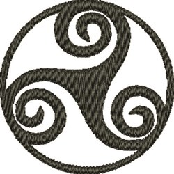Celtic Spiral embroidery design