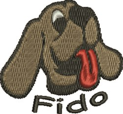 Fido Dog embroidery design