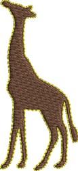 Giraffe Silhouette embroidery design