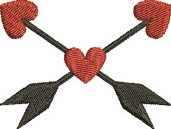 Heart & Arrow embroidery design
