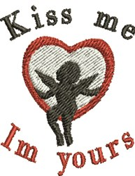 Kiss Cupid embroidery design