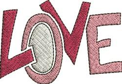 Love embroidery design