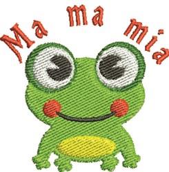 Ma Ma Mia Frog embroidery design