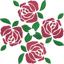 Rose Cluster embroidery design