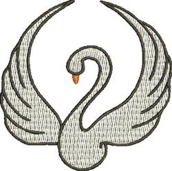 Elegant Swan embroidery design