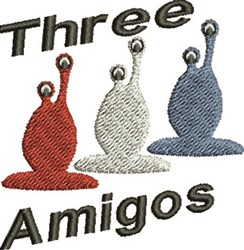 Three Amigos embroidery design