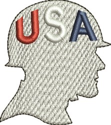 USA Soldier embroidery design
