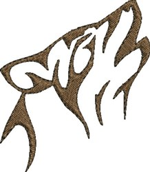 Wolf Howl embroidery design