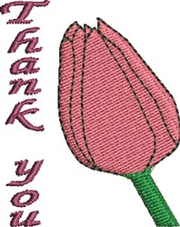 Thank You Rose embroidery design