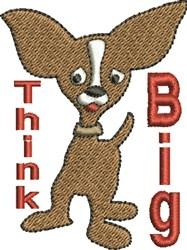 Think Big Dog embroidery design