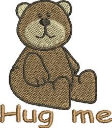 Hug Me Bear embroidery design