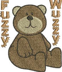 Fuzzy Bear embroidery design