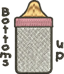 Bottoms Up Bottle embroidery design