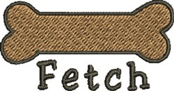 Fetch A Bone embroidery design