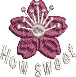 How Sweet Flower embroidery design