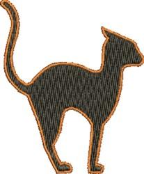 Small Black Cat embroidery design