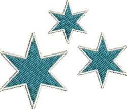 Star Group embroidery design