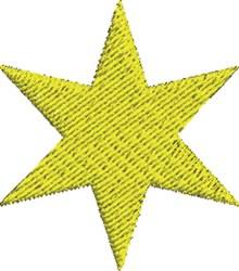Plain Star embroidery design