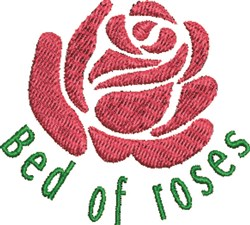 Bed of Roses embroidery design