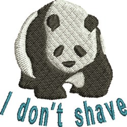 I Dont Shave embroidery design
