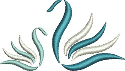 Two Swans embroidery design