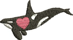 Love Whale embroidery design