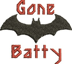 Gone Batty embroidery design
