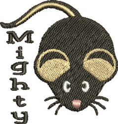 Mighty Mouse embroidery design