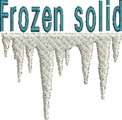 Frozen Solid embroidery design