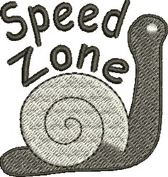 Speed Zone embroidery design