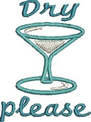 Dry Martini embroidery design