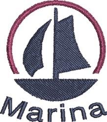 Boat Marina embroidery design