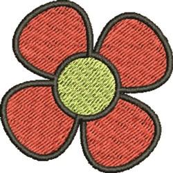 Orange Flower embroidery design