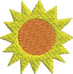 Two Color Sun embroidery design