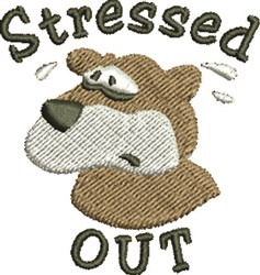 Stressed Bear embroidery design