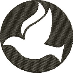 Outline Dove embroidery design