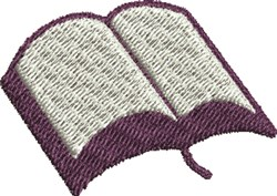 Open Bible embroidery design