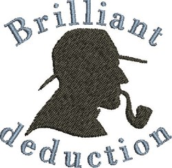 Deduction embroidery design