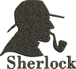 Sherlock Head embroidery design