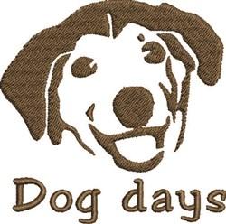 Dog Days embroidery design