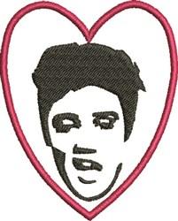 Elvis Heart embroidery design
