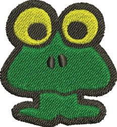 Big Eye Frog embroidery design