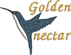 Golden Nectar embroidery design